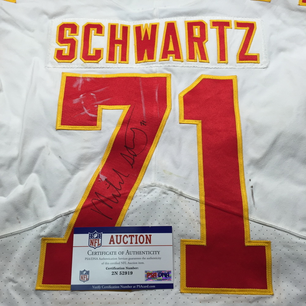 more photos 7cb5c b7f7f NFL Auction | STS - Chiefs Mitchell Schwartz Signed Game ...