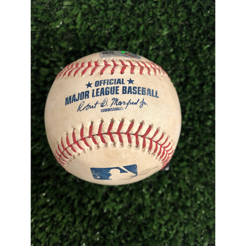 Photo of Trea Turner Game Used Hit Triple Ball - 5/29/2019