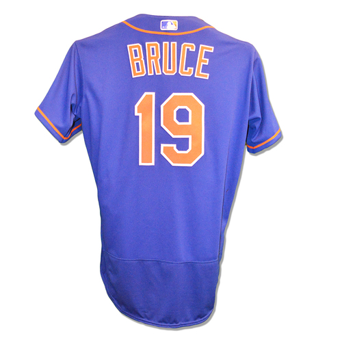 Photo of Jay Bruce #19 - Team Issued Blue Alt. Home Jersey