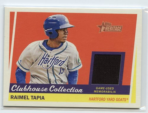 Photo of 2016 Topps Heritage Minors Clubhouse Collection Relics #CCRRT Raimel Tapia
