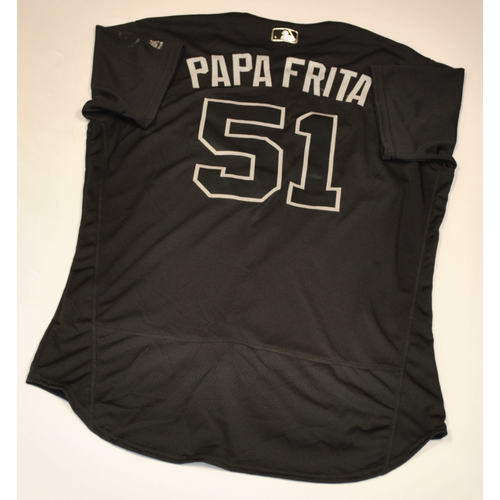 "Photo of Paul ""PAPA FRITA"" Fry Baltimore Orioles Game-Used 2019 Players' Weekend Jersey"