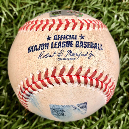 Photo of Game Used ALWC Game 1 Baseball: Danny Jansen foul ball off Blake Snell - Danny Jansen First Career Postseason Game - September 29, 2020 v TOR