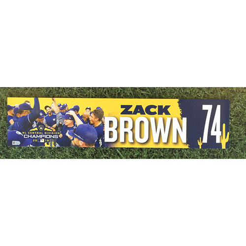 Photo of Zack Brown 2019 Team-Issued Spring Training Locker Nameplate