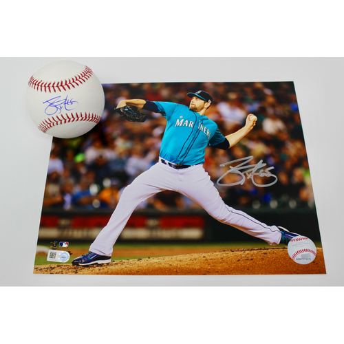 Photo of Mariners Care: James Paxton Autographed Baseball & Photo