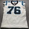 Crucial Catch - Panthers Russel Okung Game Used Jersey (10/11/20) Size 46 w/ Captains Patch