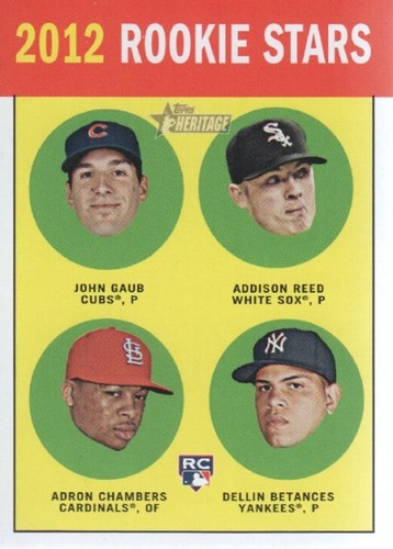 Photo of 2012 Topps Heritage #54A John Gaub RC/Addison Reed RC/Adron Chambers RC/Dellin Betances RC
