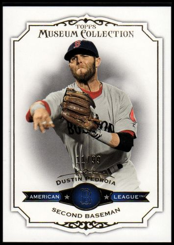Photo of 2012 Topps Museum Collection Blue #51 Dustin Pedroia