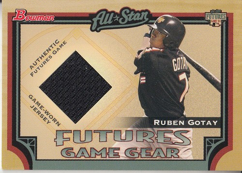Photo of 2005 Bowman Futures Game Gear Jersey Relics #RG Ruben Gotay