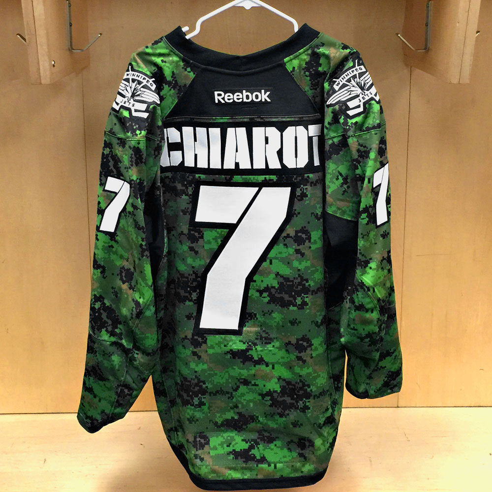 reputable site 6f147 18376 Ben Chiarot Winnipeg Jets Warm Up Worn Canadian Armed Forces ...