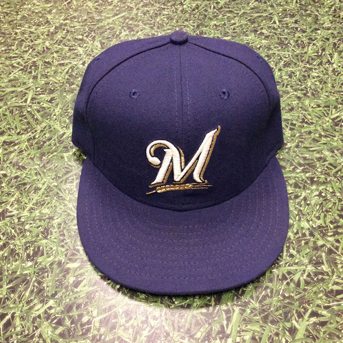 Mike Cameron 2008 Game-Used Cap - Wild Card Clinch Game