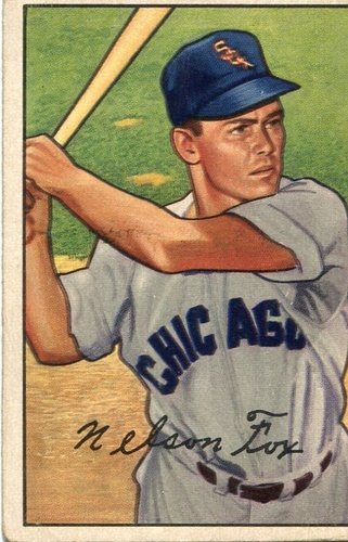 Photo of 1952 Bowman #21 Nellie Fox -- Hall of Famer