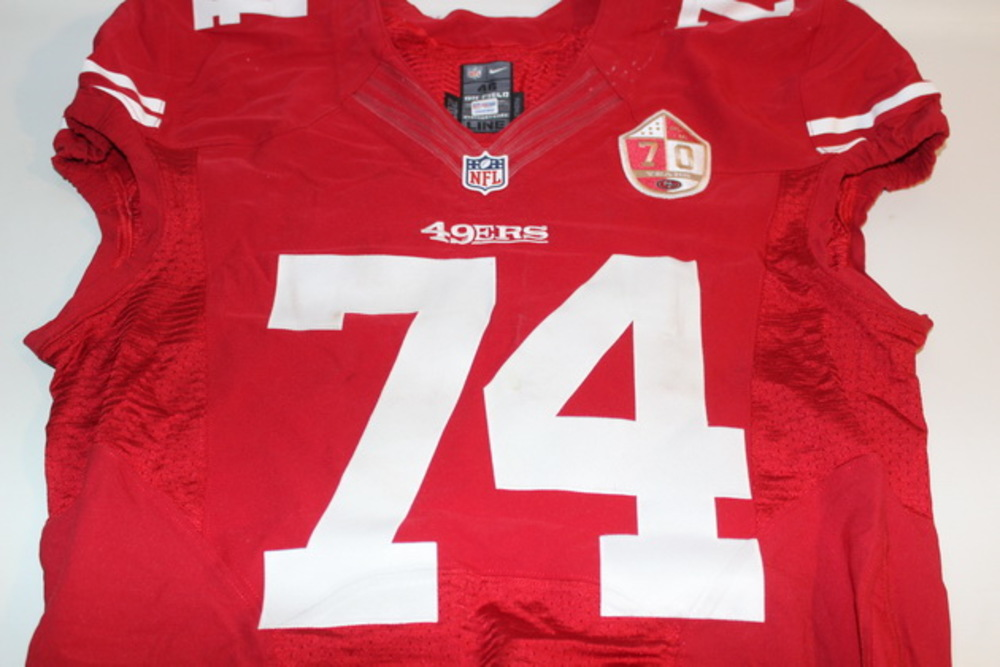 quality design b102e 9d8fc NFL Auction | CRUCIAL CATCH - 49ERS JOE STALEY GAME WORN ...