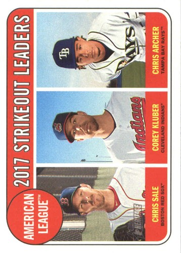 Photo of 2018 Topps Heritage #11 Chris Archer/Chris Sale/Corey Kluber LL