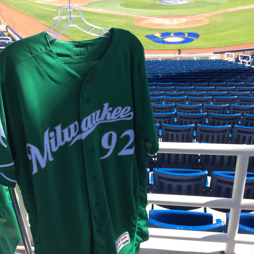 Photo of #92 2018 Team-Issued St. Patrick's Day Jersey