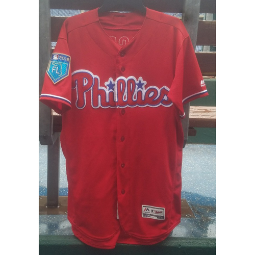 Photo of 2018 Game-Used Scott Kingery Spring Training Jersey