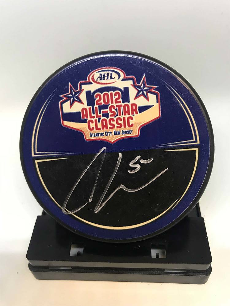 2012 AHL All-Star Classic Souvenir Puck Signed by #5 Clay Wilson