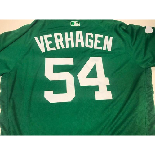 Photo of Game-Used St. Patrick's Day Jersey: Drew VerHagen