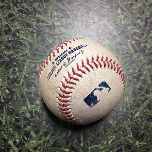 Photo of Game-Used Baseball ATL@MIL 07/07/18 - Mike Zagurski - Freddie Freeman: RBI Triple