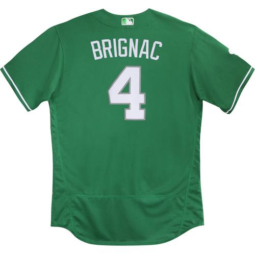 2016  Spring Training -  St. Patrick's Day Worn Jersey - Reid Brignac (Braves) - Size 48