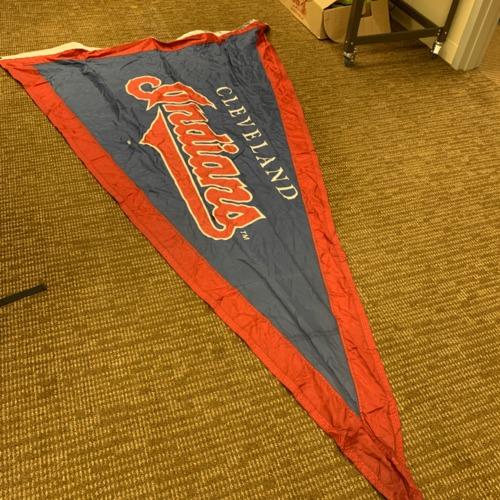 Photo of Minnesota Twins Stadium Flag - Clevelanad Indians Pennant