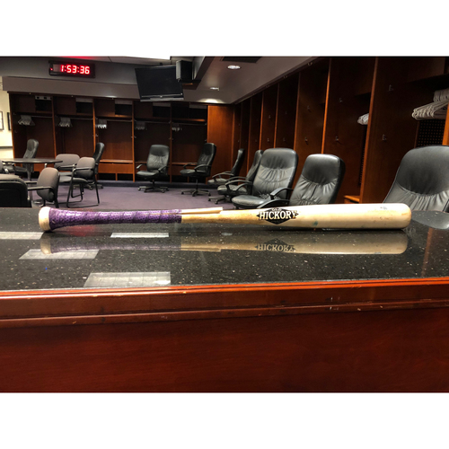 Photo of Colorado Rockies Game-Used Broken Baseball Bat - Freddy Peralta v Raimel Tapia - May 2, 2019