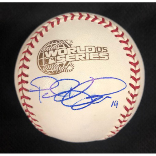Photo of Paul Konerko Autographed 2005 World Series Baseball