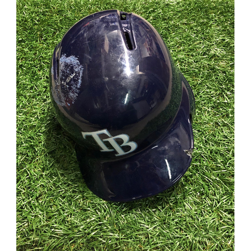 Game Used HOME RUN Batting Helmet: Yandy Diaz - April 17, 2019 v BAL