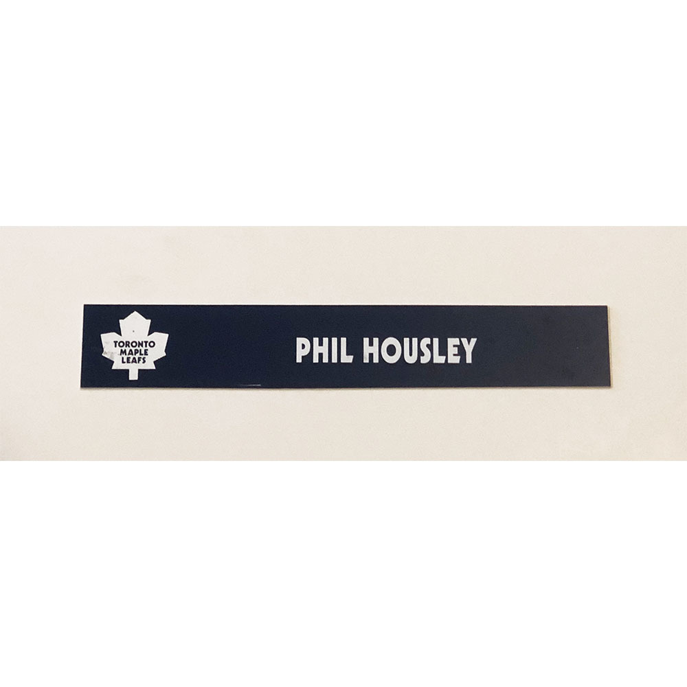 Phil Housley Toronto Maple Leafs Locker Room Used Nameplate