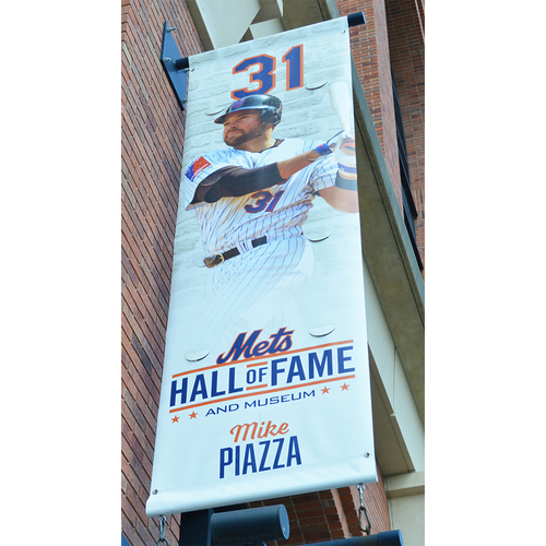 Photo of Mike Piazza #31 - Citi Field Banner - Hall of Fame and Museum - 2018 Season