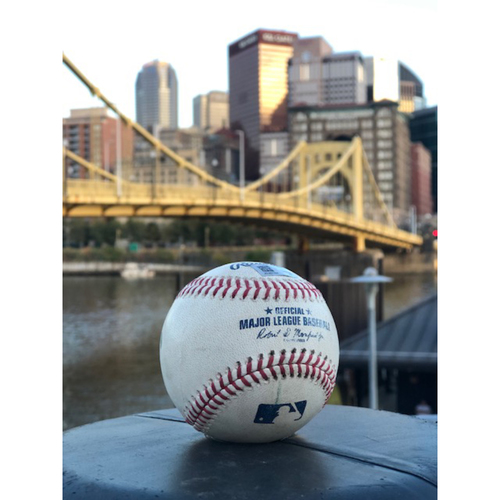 Photo of Game-Used Baseball: Bryan Reynolds Triple