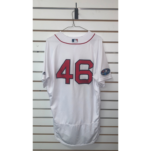 Photo of Craig Kimbrel Game Used April 5, 2018 & September 29, 2018 Home Jersey