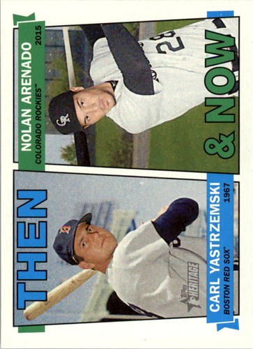 Photo of 2016 Topps Heritage Then and Now #TANYA Carl Yastrzemski/Nolan Arenado