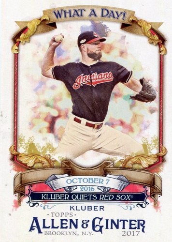 Photo of 2017 Topps Allen and Ginter What a Day #WAD85 Corey Kluber