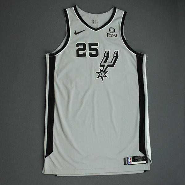 Image of Jakob Poeltl - San Antonio Spurs - Game-Worn Statement Edition Jersey - NBA Mexico Games - 2019-20 NBA Season