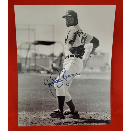 Photo of Jack Billingham Autographed Photo (on mound at spring training)