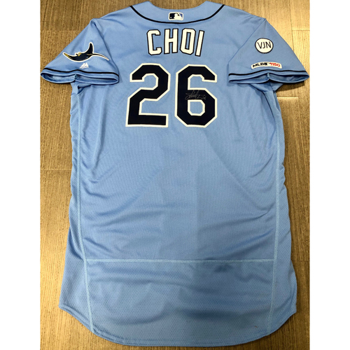 Photo of Team Issued Autographed Jersey: Ji-Man Choi