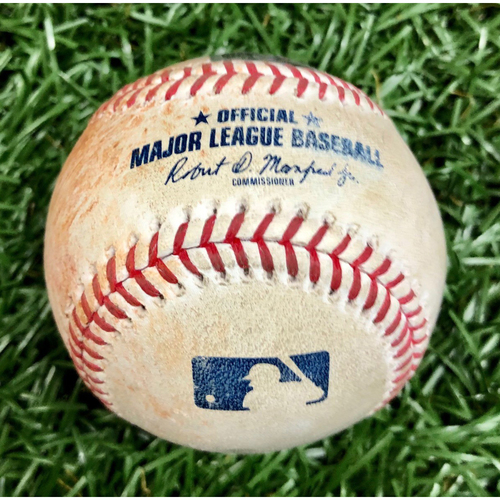 Photo of Game Used Baseball: Gary Sanchez Single off Charlie Morton - August 9, 2020 v NYY