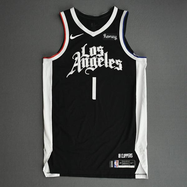 Image of Reggie Jackson - Los Angeles Clippers - Game-Worn City Edition Jersey - 2nd Half - 2021 NBA Playoffs