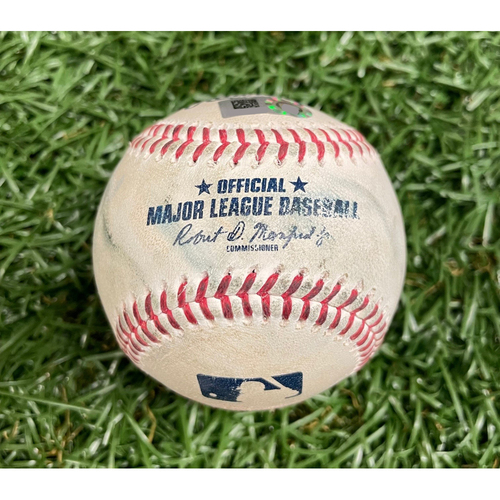 Photo of Game Used ALDS Baseball: Matt Barnes walks Randy Arozarena - Randy Arozarena Rookie Season - Bottom 9 - October 8, 2021 v BOS