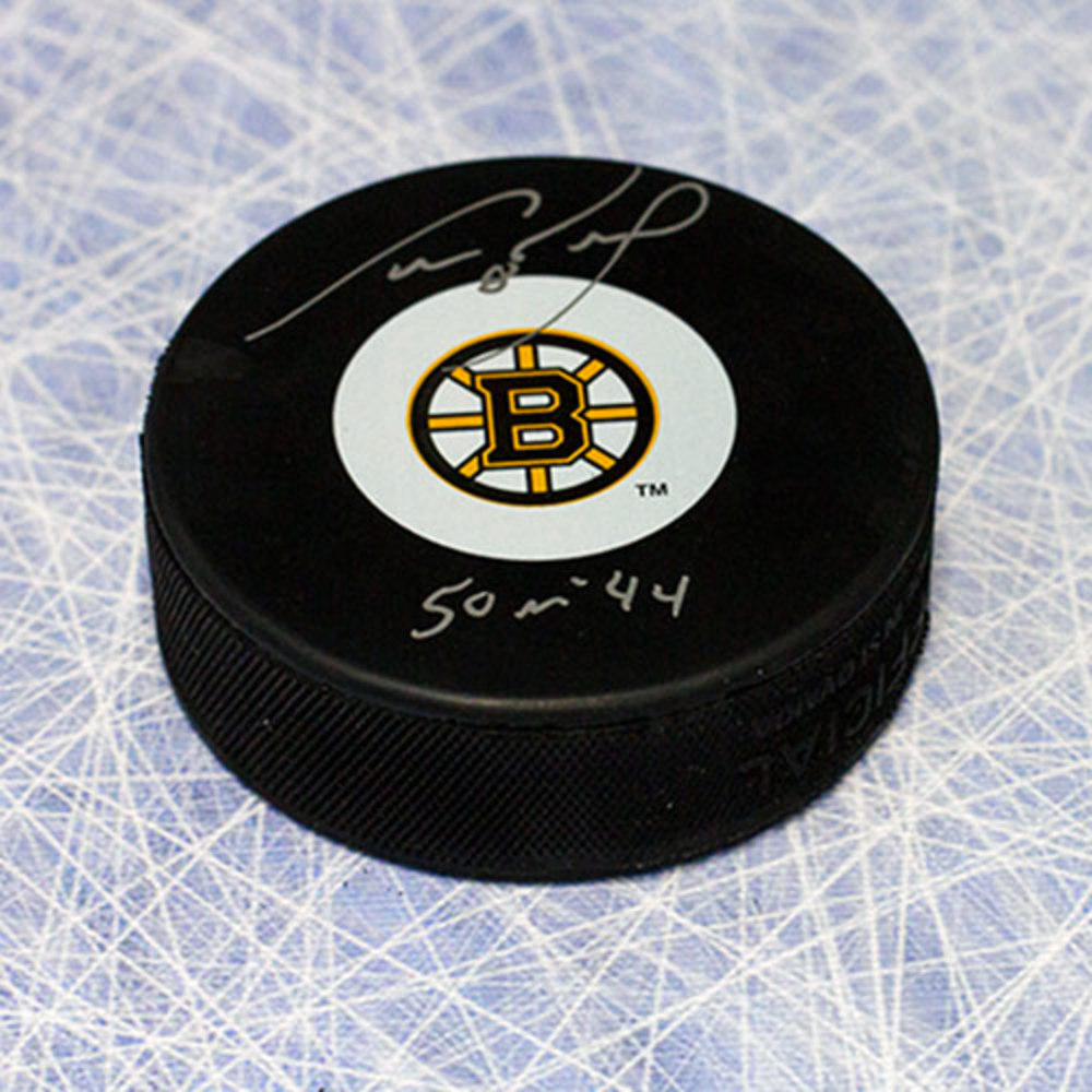 Cam Neely Boston Bruins Autographed Hockey Puck with 50 in 44 Inscription
