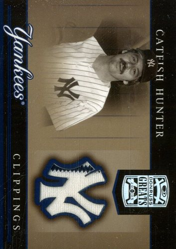Photo of 2005 Donruss Greats Yankee Clippings Material #8 C.Hunter w/o Glove Jsy T5