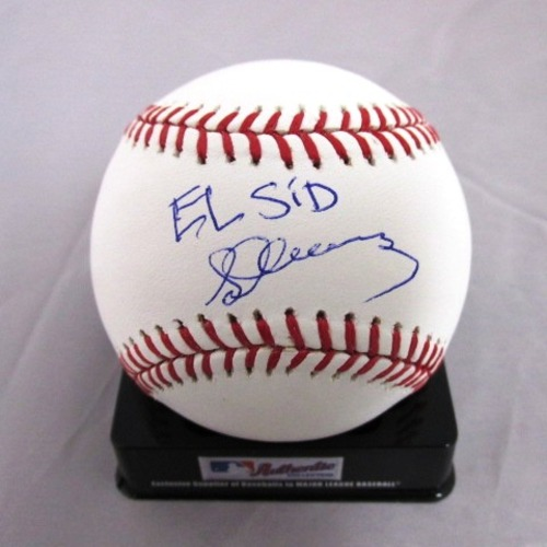 "Photo of Sid Fernandez Autographed ""El Sid"" Baseball"
