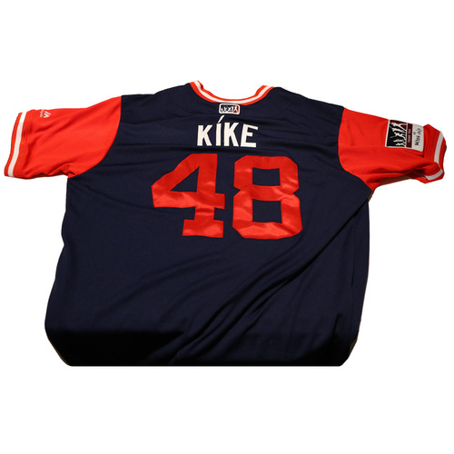 "Photo of Jose ""Kike"" Alvarez Los Angeles Angels 2017 Game-Used Players Weekend Jersey"