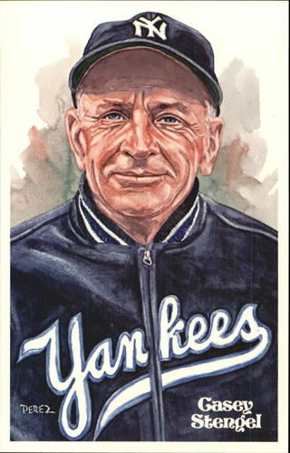 Photo of 1980-02 Perez-Steele Hall of Fame Postcards #103 Casey Stengel  -- HOF Class of 1966