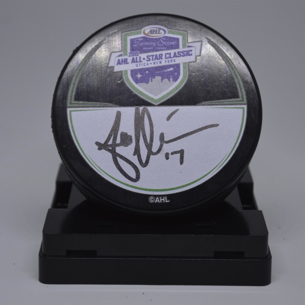 2015 AHL All-Star Classic Souvenir Puck Signed by #17 Andrew Miller