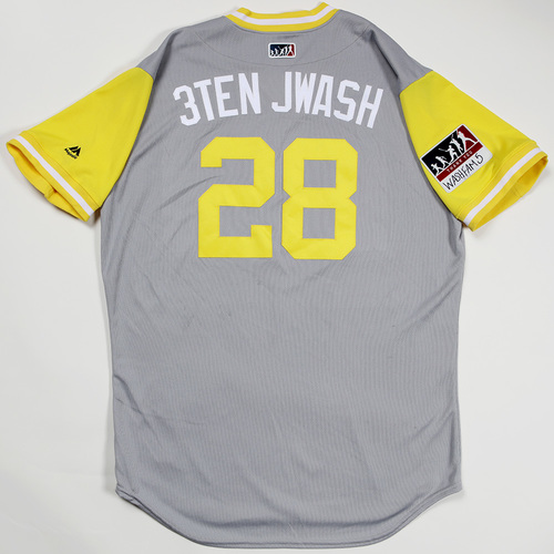 "Photo of Johnny ""3Ten Jwash"" Washington San Diego Padres Team-Issued 2018 Players' Weekend Jersey"