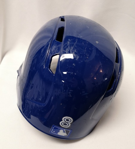 Photo of Authenticated Game Used Helmet - #8 Kendrys Morales (June 17, 18: 2-for-5 with 1 Run and 1 RBI). Size 7 1/2.