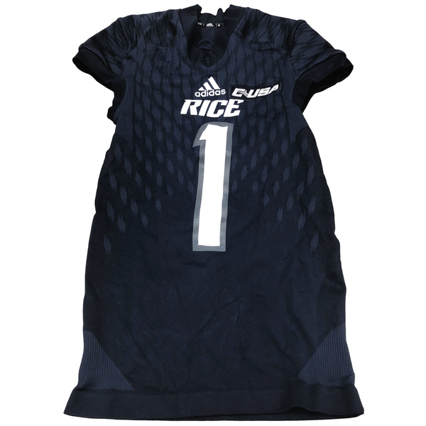 Photo of Game-Worn Rice Football Jersey // Navy #65 // Size L