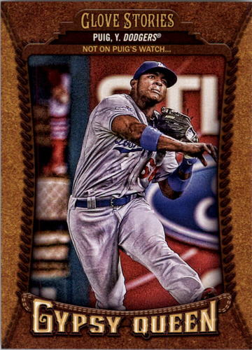 Photo of 2014 Topps Gypsy Queen Glove Stories #GSYP Yasiel Puig