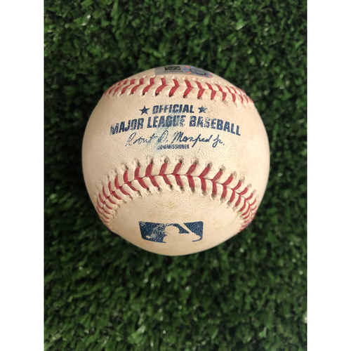Photo of Ozzie Albies Game Used Hit Triple Ball - 5/1/2019